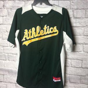 Majestic Oakland Athletics Jersey Sz L Men's